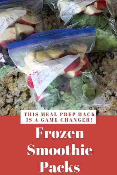 Frozen Smoothie Packs. How to meal prep a week's worth of smoothies in a day