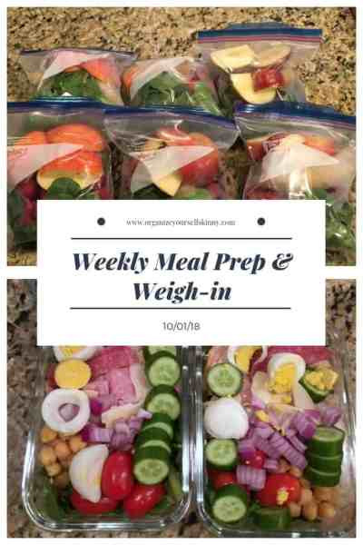 Weekly Meal Pre and Weigh-in