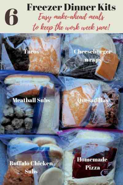Make ahead freezer meals: My 6 Favorite Freezer Meal Kits!