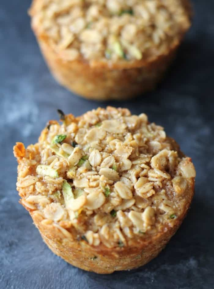 Zucchini Bread Baked Oatmeal Cups