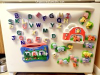 Save Your Fridge from Toy Scratches - Organizing Homelife