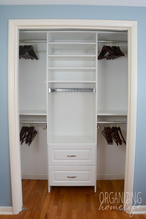 Master Bedroom Closet Organization  The Reveal  Surprise