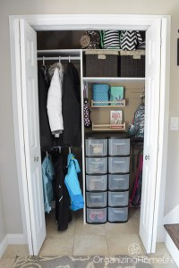 A Neat and Tidy Entry Closet - Just a Girl and Her Blog