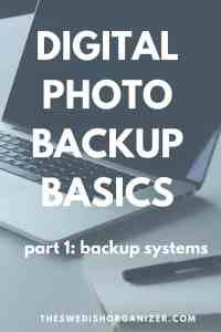 Digital Photo Backup Basics part 1