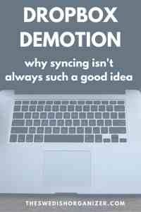 Dropbox Demotion: Why Syncing isn't Always Such a Great Idea