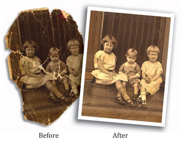Certified Photo Organizer Caroline Guntur of OrganizingPhotos.net offers photo editing, photo retouching, and photo restoration for your heritage photos!