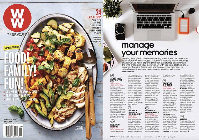 Manage Your Memories | Weight Watchers Magazine  | July / August 2018