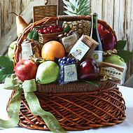 """""""Fruit, Cheese, Chocolate and Red Wine in a Baskets"""""""