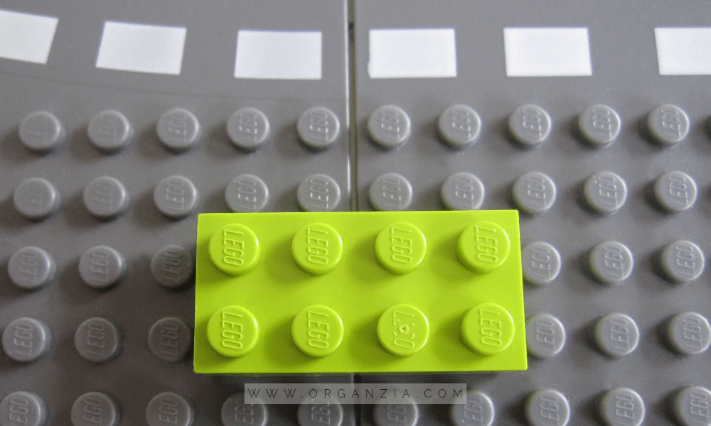 DIY Lego Table - Green Lego Block