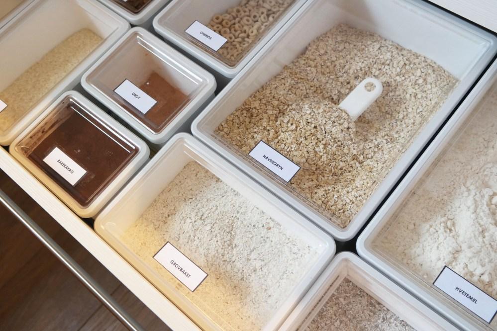 Organized kitchen drawer- dry foods