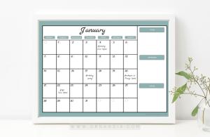 DIY Dry Erase Monthly Planner
