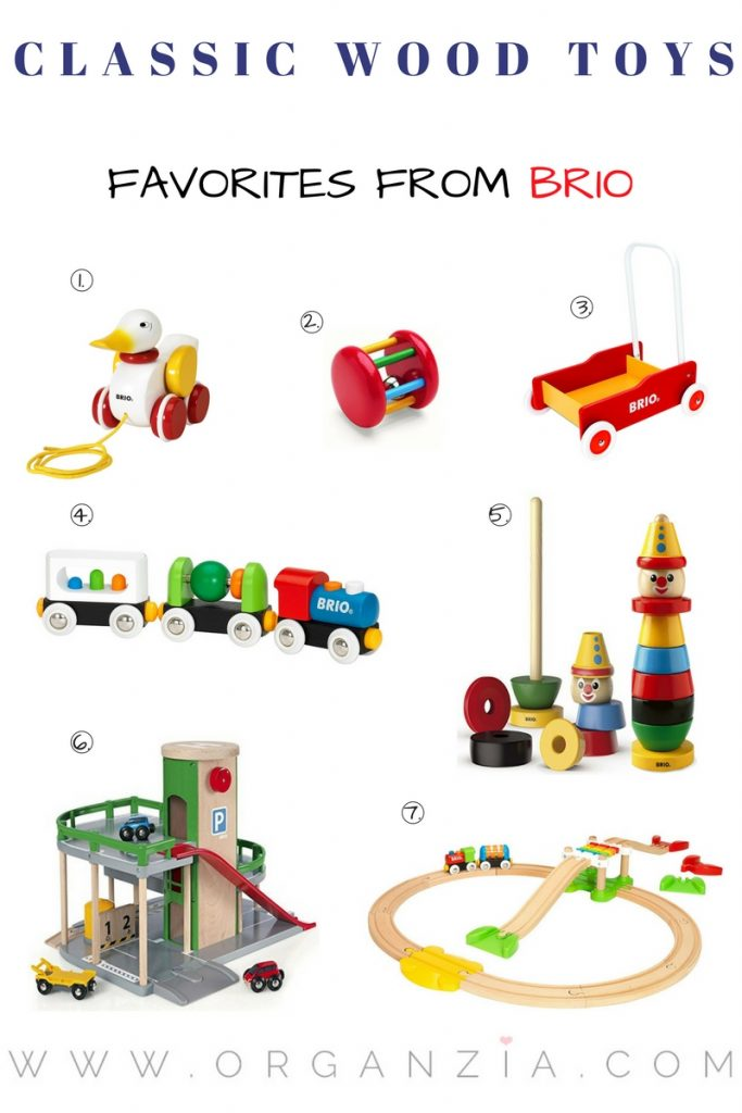 Classic wood toys from Brio
