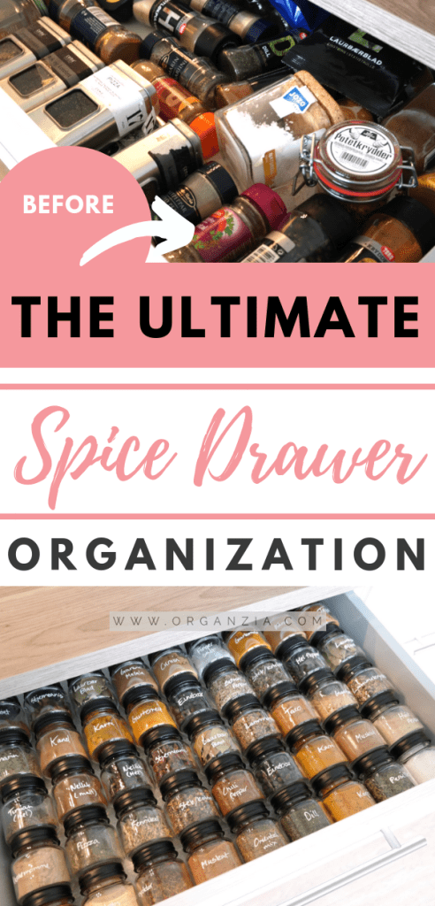 How to organize spices drawer