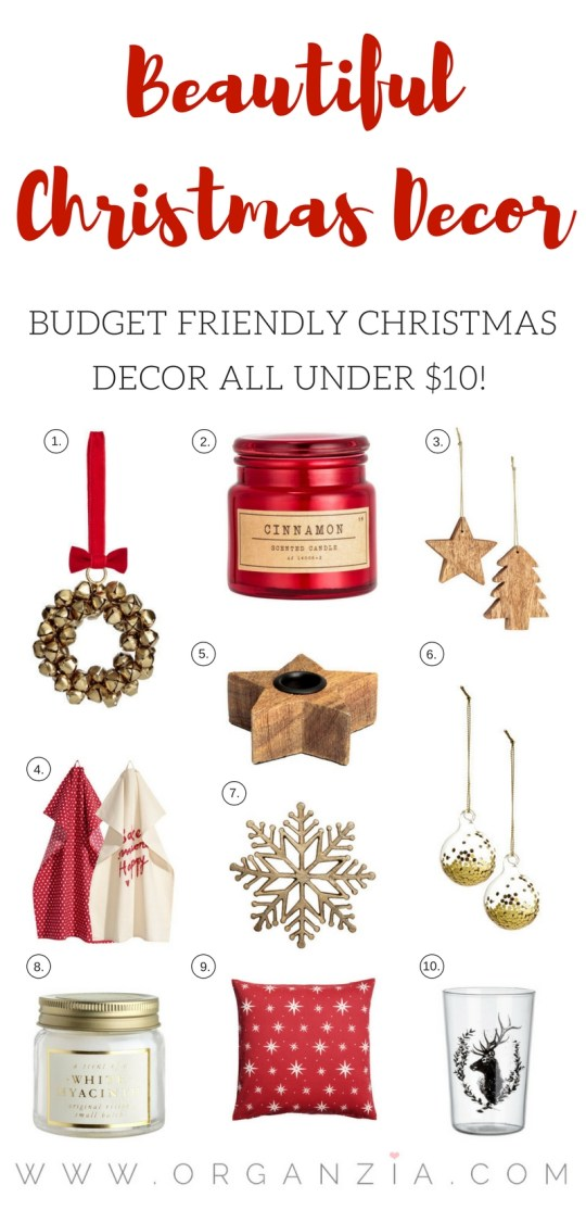 Budget Friendly Christmas Decor Items – All under $10!