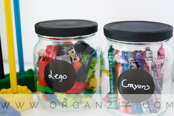 DIY upcycled glass jars