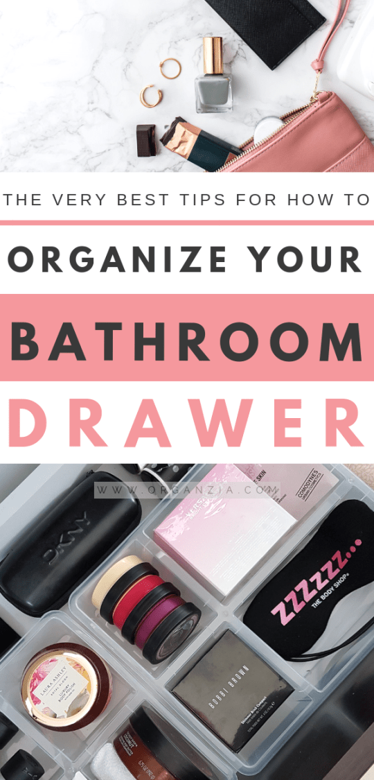 Organize Your Bathroom Drawer Tips