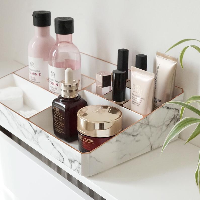 Marble  bathroom organizer