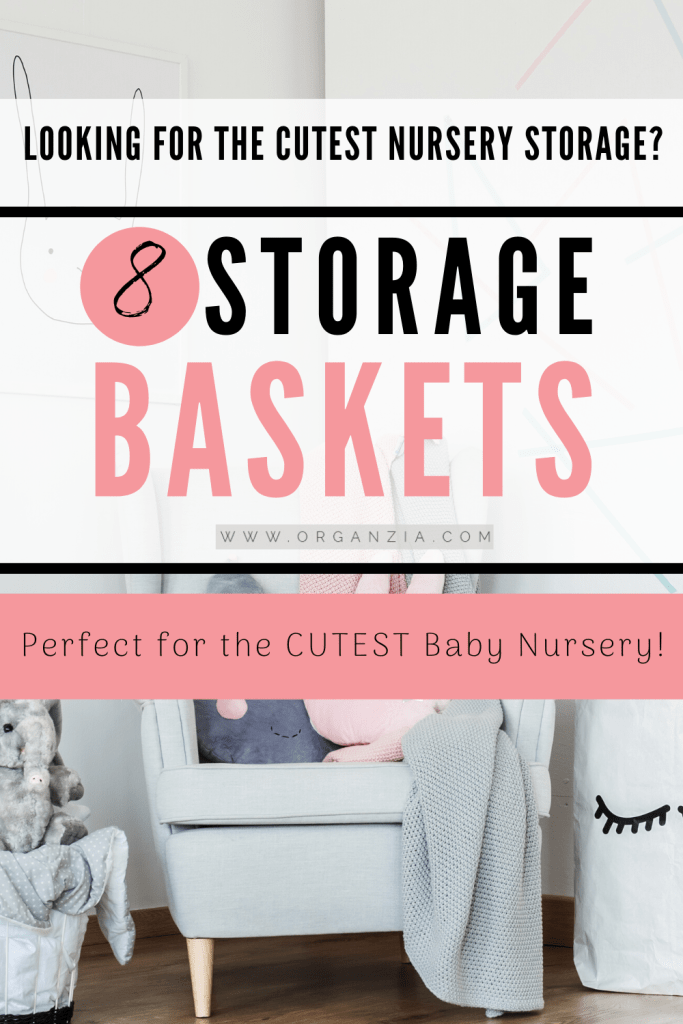 8 Storage Baskets - for baby nursery