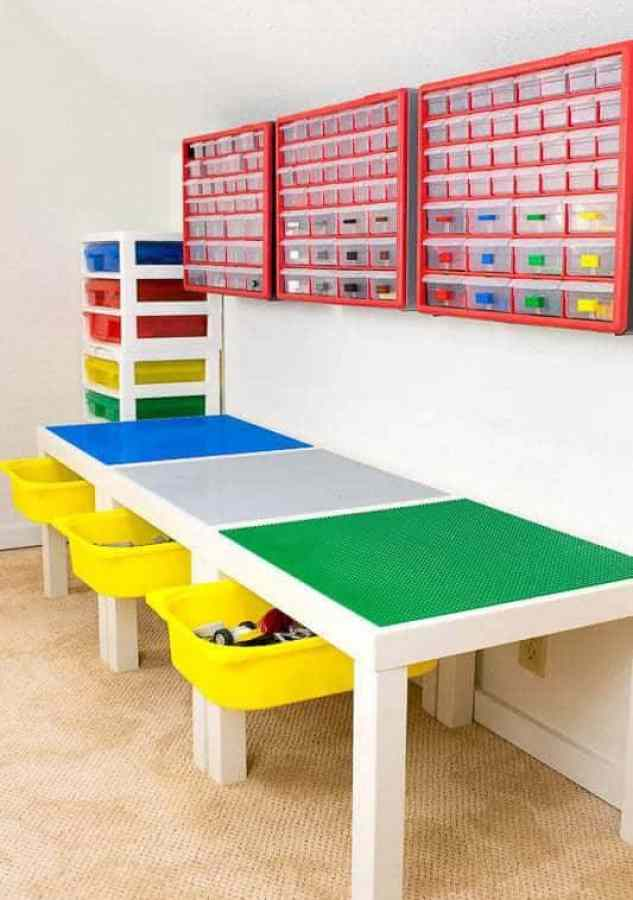 Organize Lego - make a DIY Lego table