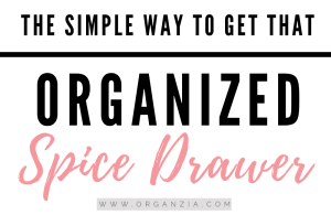 The simple way to organize spice drawer