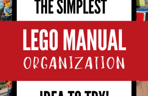Organize Lego Manuals idea