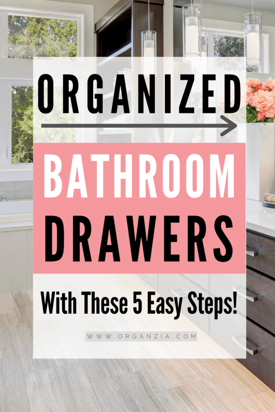 Bathroom Drawer Organization- 5 easy steps