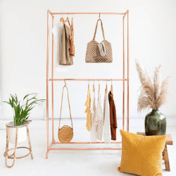 Beautiful copper clothing rack