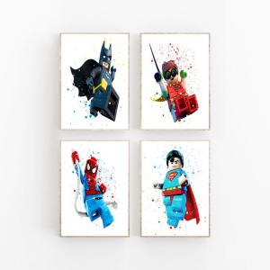 Set of 4 Lego picture set