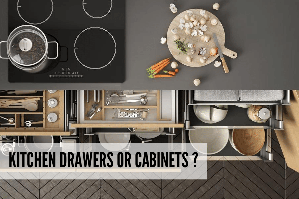 Kitchen drawers or kitchen cabinets