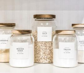 Modern custom jar labels