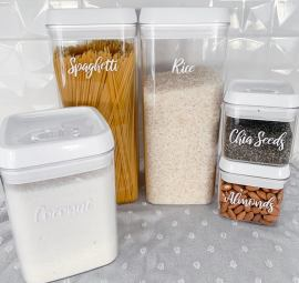 Personalized pantry labels