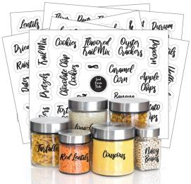 Labels for pantry jars