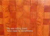 my new cutting board