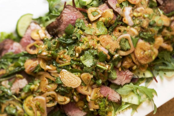 Thai Beef Salad by Charlie Louis at hotlyspiced.com