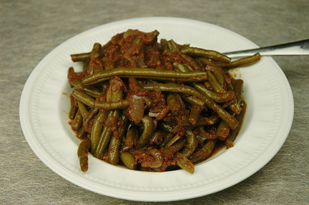 lebanese green beans with tomatoes