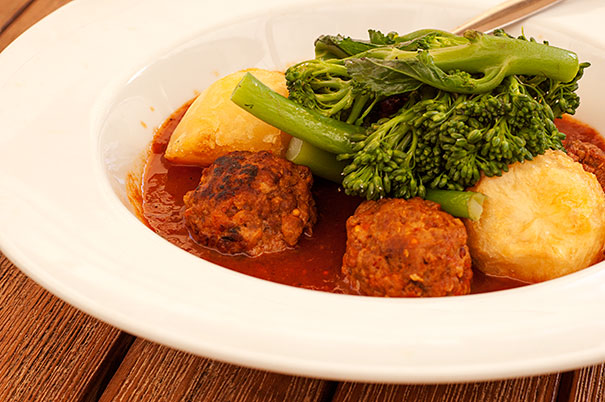 Beef and Pork Meatballs in Tomato Sauce