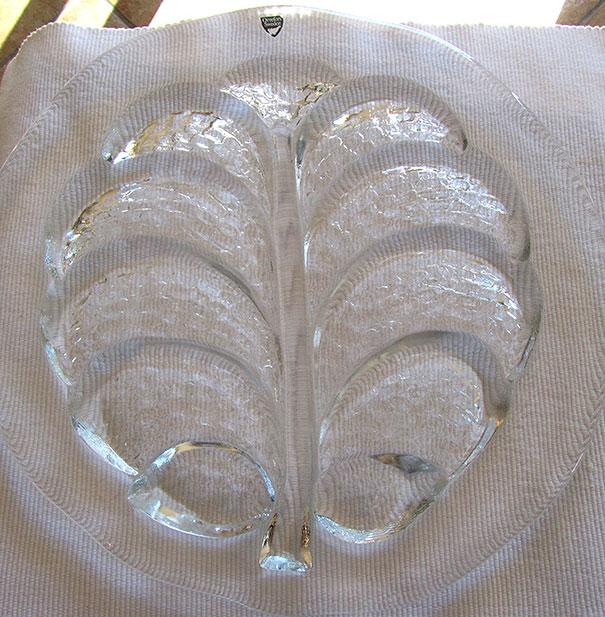 Orrefors Crystal Platter