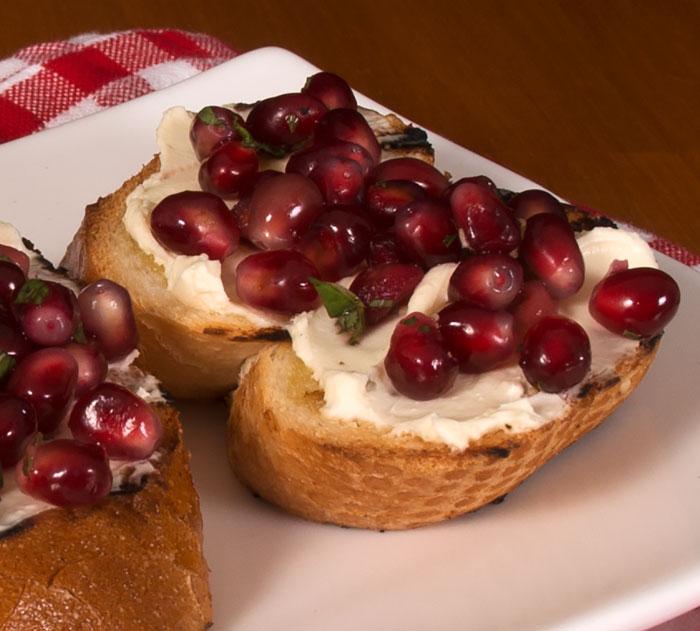 Pomegranate Bruschetta