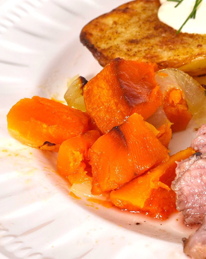Butternut and onion side dish