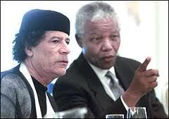 Mandela and Gaddhafi - friend in better times