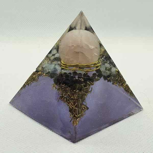 Reflections of Another Time Orgone Orgonite Pyramid 6cm 4