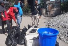 Razia, Polres Jayawijaya Amankan Ratusan Liter Miras Lokal