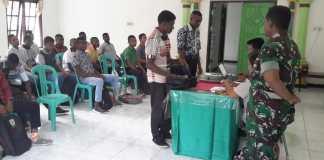 Koramil 05/Wasior Gelar Pemeriksaan Administrasi Calon Tamtama TNI AD