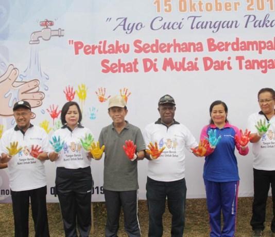Kampanye CTPS, Warga Manokwari Diingatkan Pentingnya Cuci Tangan Sebagai Langkah Memulai Hidup Sehat
