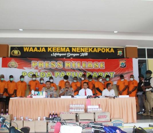 Operasi Pekat Seminggu, Polda Papua Barat Berhasil Ungkap Sejumlah Kasus