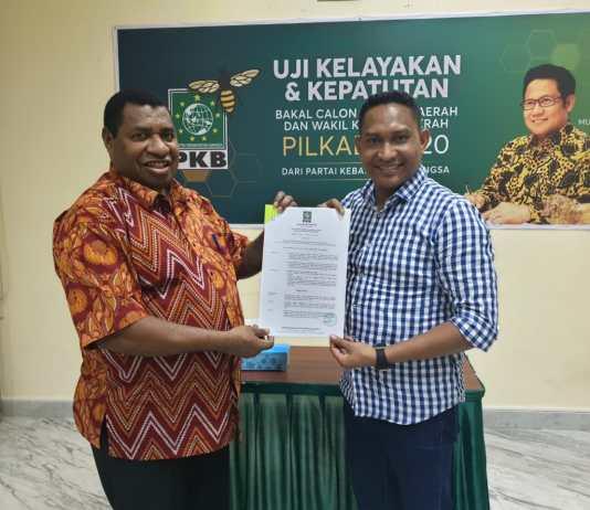 Demas Paulus Mandacan menerima rekomendasi DPP Partai PKB melalui DPW PKB Provinsi Papua Barat. Foto: IST