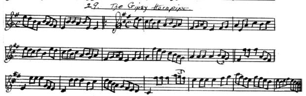 Donnellan MS - 29 The Gipsy Hornpipe