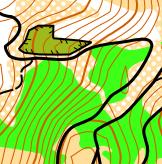 Koh Larn, Pattaya, Thailand orienteering map example