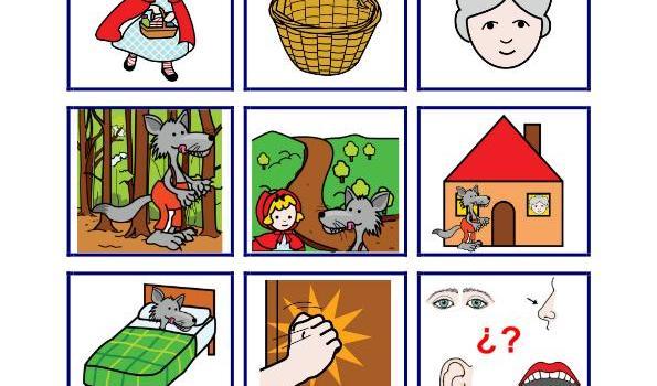cuentos pictogramas caperucita