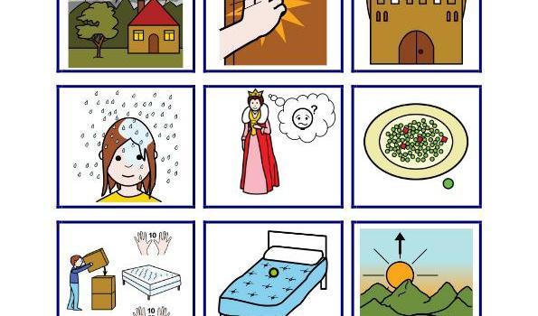 cuentos pictogramas princesa